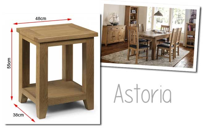 Julian bowen astoria side table in waxed oak furniture123 American classic furniture company